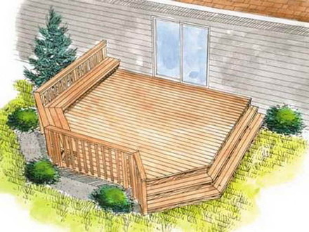 Wood Deck Wooden Deck Plans Designs