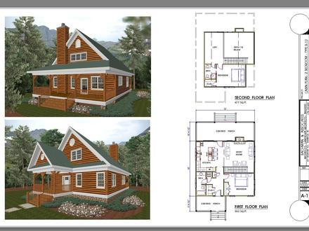 2 Bedroom Ranch Floor Plans 2 Bedroom Cabin Plans with Loft