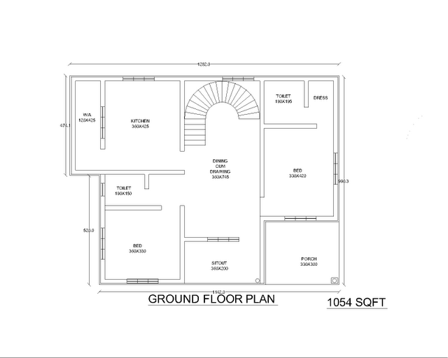 2 bhk house plan 2 bhk flats in kolkata single story for Small house design in kolkata
