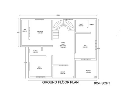 Single floor house plans simple small house floor plans for Small house design in kolkata