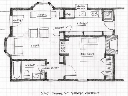 2 Car Garage with Apartment Garage with Apartment Floor Plans
