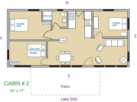 3 Bedroom Cabin Floor Plans 3-Bedroom Log Cabin Kits
