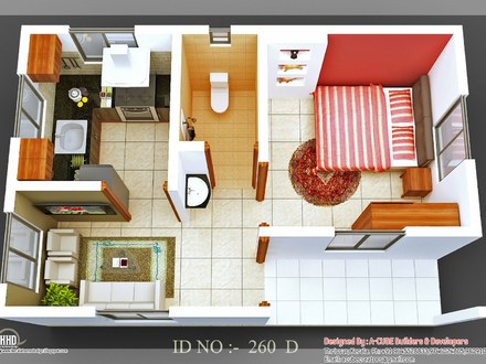 3D Small House Design 2 Bedroom Small House Design