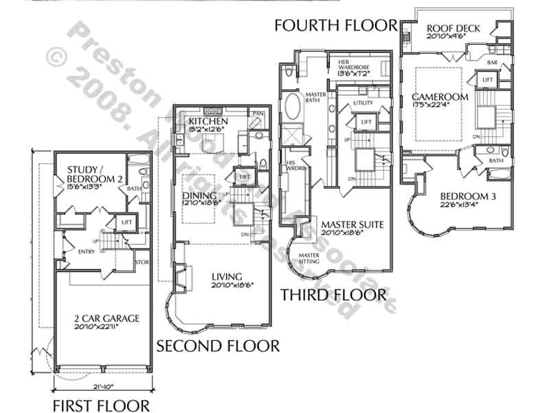 4story townhouse plans 4story transparent background for 3 story townhome plans