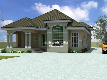 5 Bedroom Apartment Floor Plan 5 Bedroom Bungalow House Plan in Nigeria