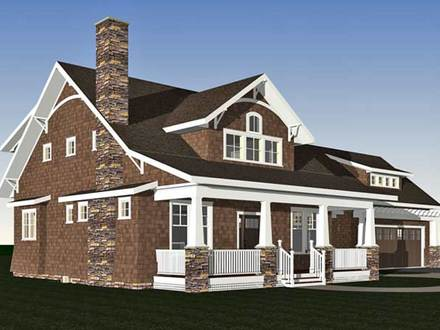 Arts and Crafts Cottage Arts and Crafts Bungalow Home Plans