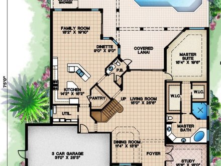 Beach house home plans beach house floor plan beach home for Beach house plans 1 story