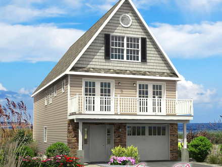 Beach cottage house plans beach house plans on narrow lots for Modular beach cottages