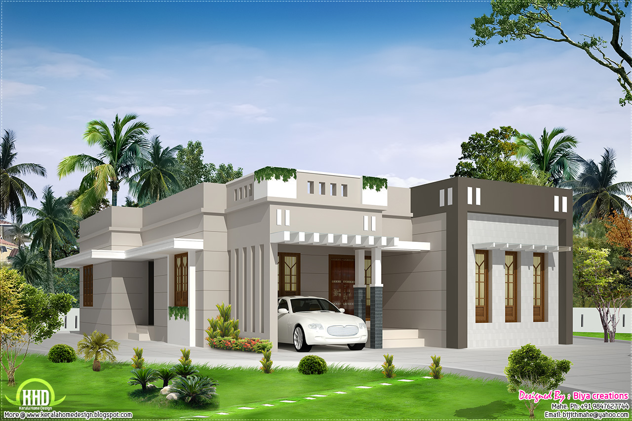 Bungalow Home 2 Bedroom Single Storey House Design Modern