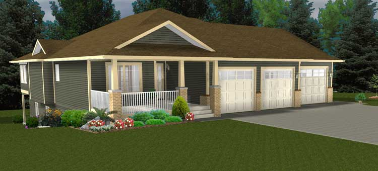 Bungalow house plans with wrap around porches bungalow for House plans walkout basement wrap around porch