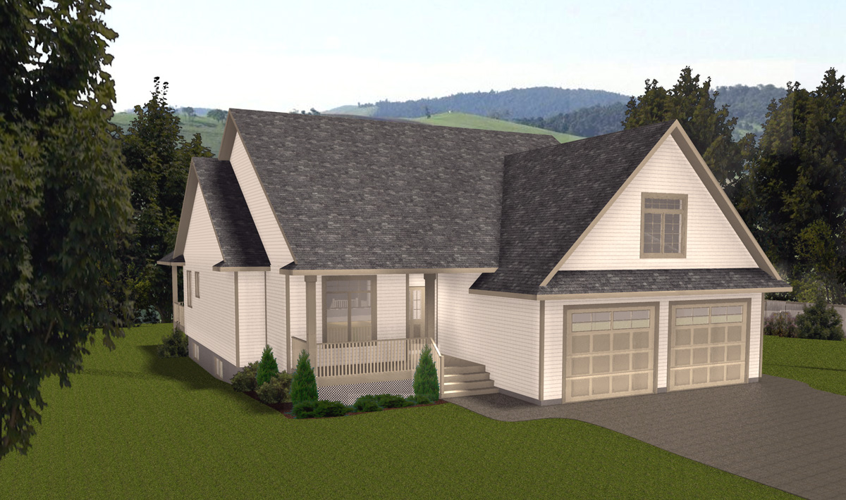 Bungalow houses with front deck ranch style house for Ranch bungalow house plans