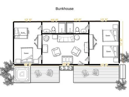 Ranch bunkhouse plans small bunkhouse plans bunkhouse Bunkhouse floor plans