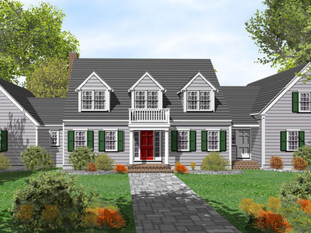 Cape cod house with floor plans bungalow house cape cod for Cape cod beach house plans
