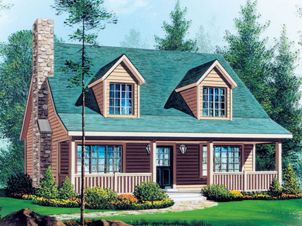 Cape Cod Style House Plans for Small Homes Ranch- Style House