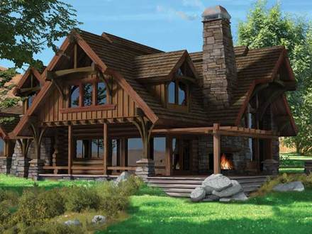 Chalet Style Homes Floor Plans Chalet Style Log Home Plans