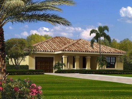 Contemporary Single Story House Plans Single Story Mediterranean House Plans