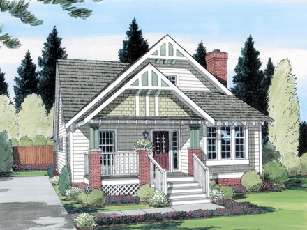 Cottage and Bungalow House Plans 2 Bedroom Cottage House