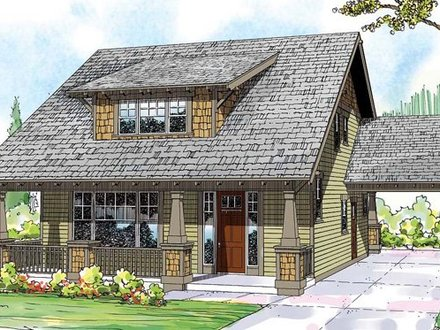 Craftsman Bungalow Fences Craftsman Bungalow Cottage House Plans
