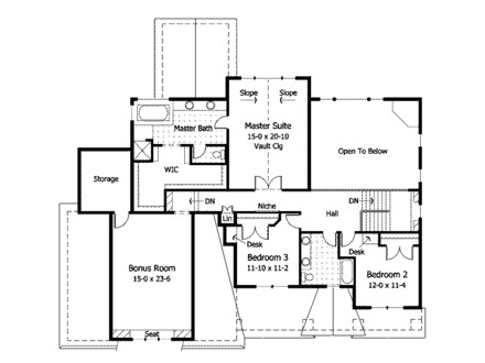 Craftsman Home with Tile Floors Craftsman Style House Floor Plans