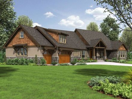 Craftsman Ranch Exterior Craftsman Style Ranch House Plans