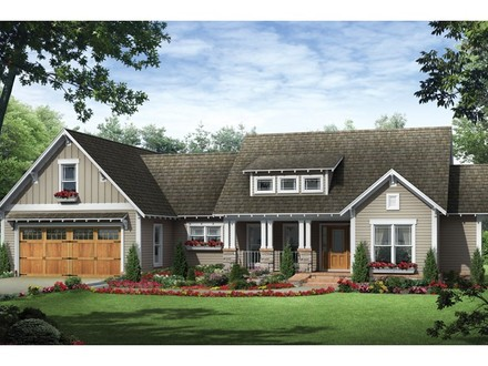 Craftsman style ranch house plans exterior ranch craftsman for 3 car garage ranch house plans