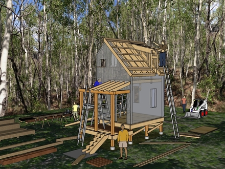 Small cabins tiny houses plans prefab tiny houses diy for Rustic log home kits