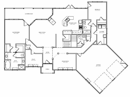Empty Nest House Plans One Story House Plans for New House
