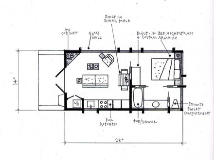 Small cabin plans under 200 sq ft small cabin plans with for Loft floor plans with dimensions