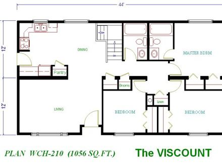 Parking space on 1 levels house plan 20146 all house for House plans under 1200 square feet