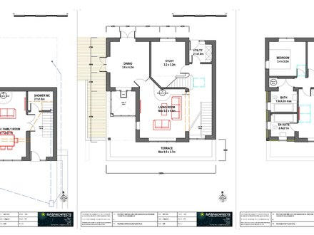 A new house plans with cost to build new american house for Garage floor plans with living space