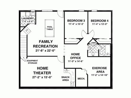 House Plans 1500 Sq 1500 Square Feet House Plans with Basement