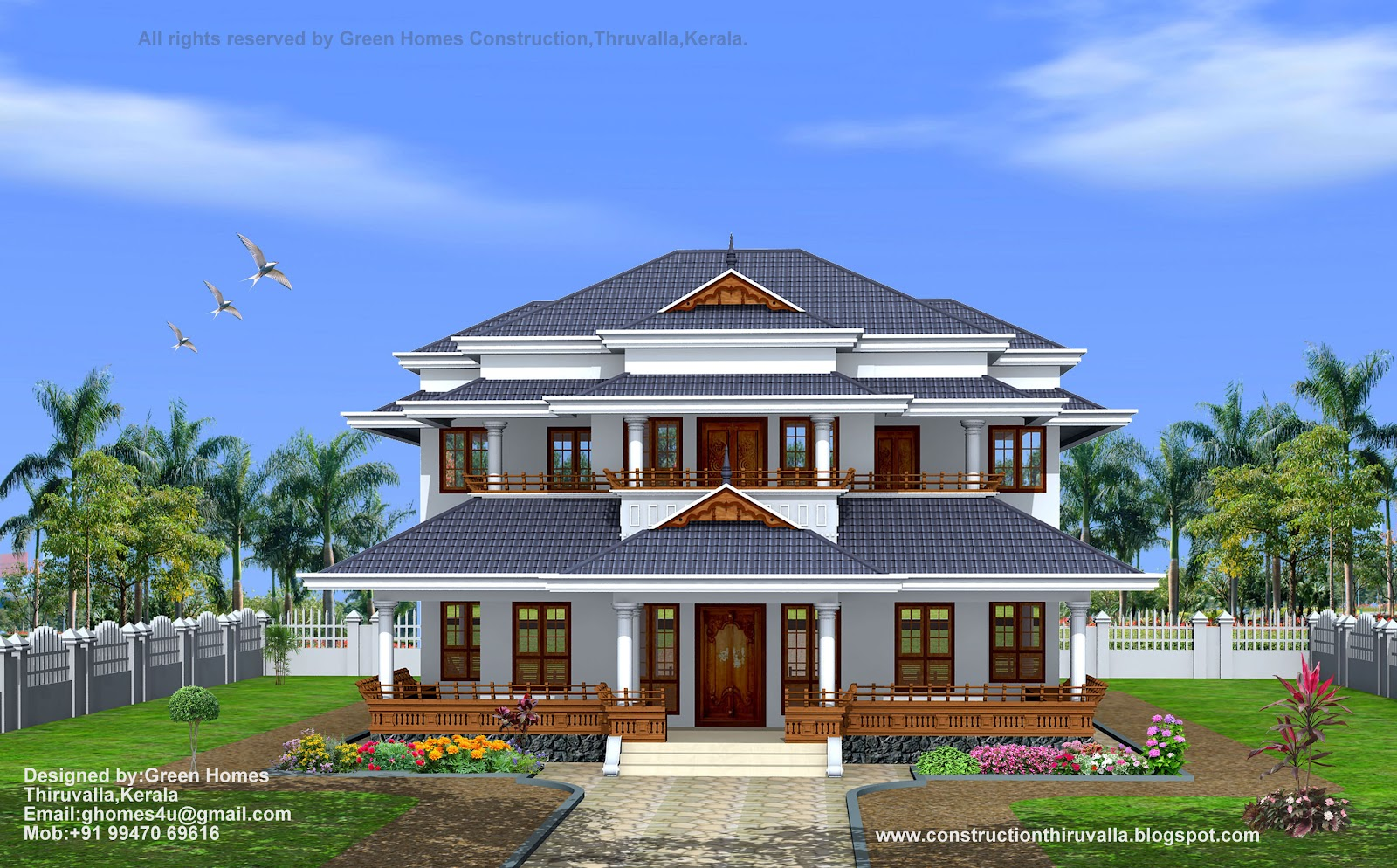 Kerala traditional style homes modern house in kerala for Home design company