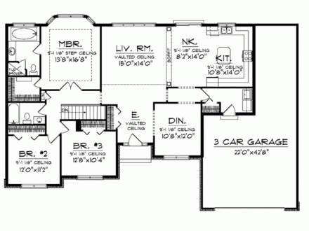 Simple small house floor plans 2 bedrooms simple small for Wall homes floor plans