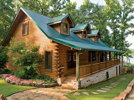 Log Cabin Home Lakefront Satterwhite Log Homes Floor Plans
