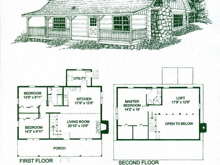 Log Cabin Homes Floor Plans Log Cabin Kitchens