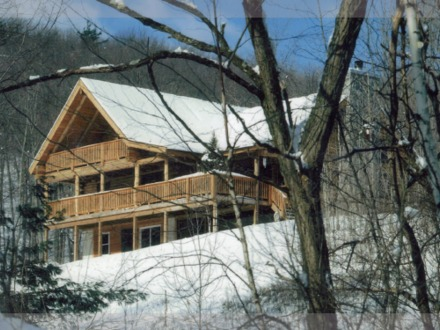 Log Cabin in the Woods Two Story Log Cabin Homes