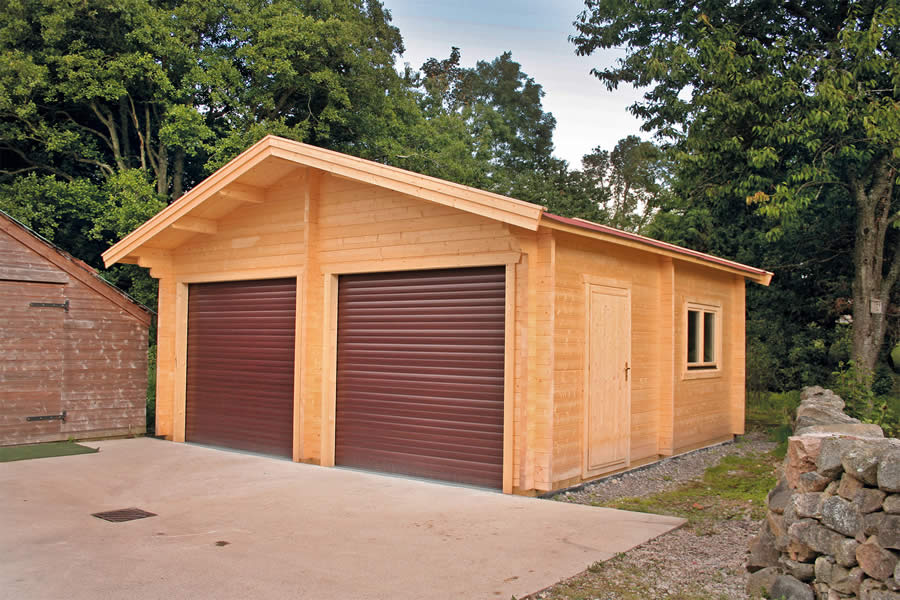 Log Cabin With Garage Log Garage With Apartment Plans
