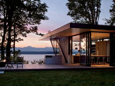 Modern Lake House Design Lake House Plans with Porches