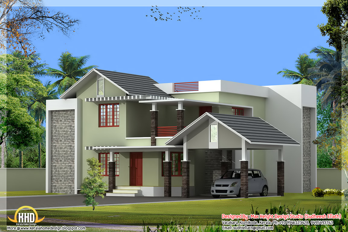 Most beautiful houses in kerala kerala house designs and for Most beautiful house plans