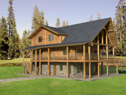 Mountain log homes of colorado rocky mountain log homes for Colorado log home plans