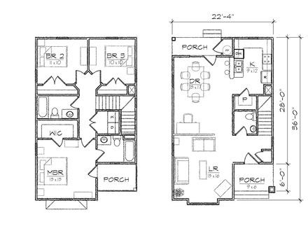 Waterfront house floor plans waterfront house plans house for Waterfront narrow lot house plans