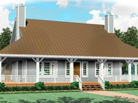 One and a Half Story House Plans with Porches One Story House and a Half