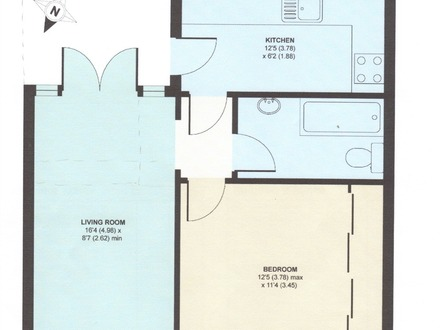 One Bedroom Bungalow House Plans Bungalow Hyattsville One-Bedroom