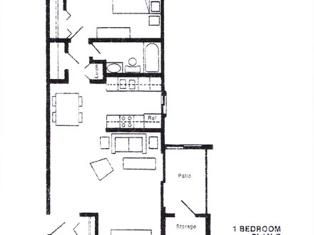 One Bedroom House Floor Plans One-Bedroom House Empty