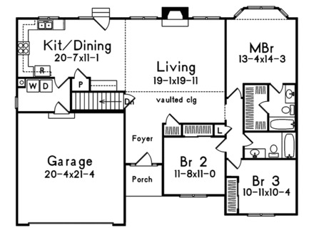 One Story House Floor Plans Single House Design