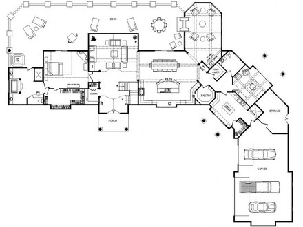 One Story Log Home Floor Plans One Story Log Home Interior