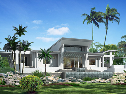 One Story Modern Home Design One Story Mediterranean House Plans