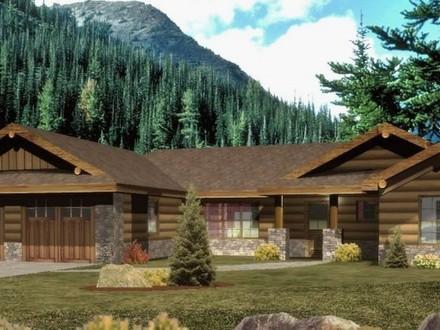 Ranch Log Cabin Homes Ranch Style Log Home Plans