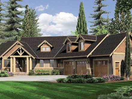 Ranch style log homes rustic ranch style home plans ranch for Craftsman style log homes