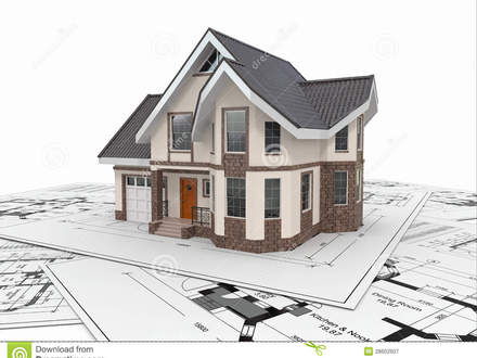 Residential Area Photo On Residential Free House Blueprint
